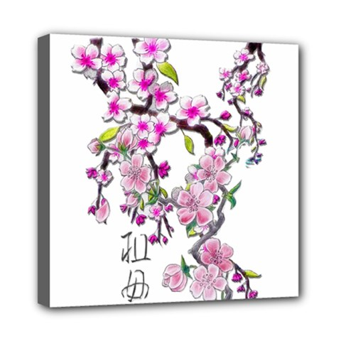 Cherry Bloom Spring Mini Canvas 8  x 8  (Framed)