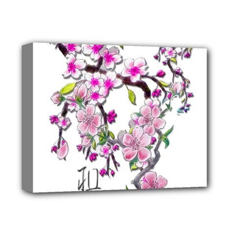 Cherry Bloom Spring Deluxe Canvas 14  x 11  (Framed)