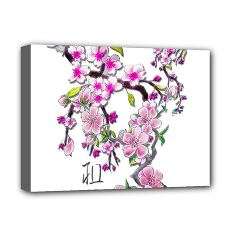 Cherry Bloom Spring Deluxe Canvas 16  x 12  (Framed)