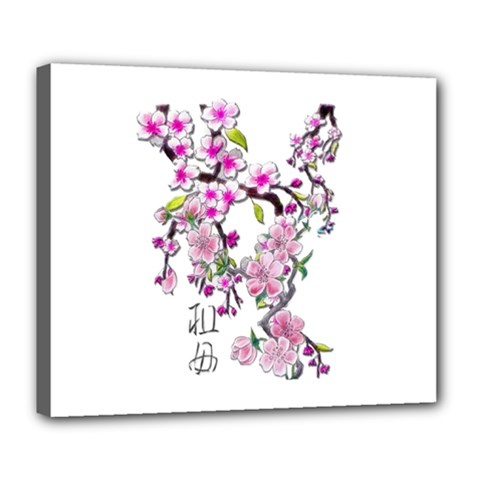 Cherry Bloom Spring Deluxe Canvas 24  x 20  (Framed)