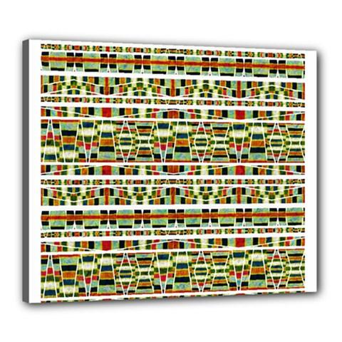 Aztec Grunge Pattern Canvas 24  x 20  (Framed)