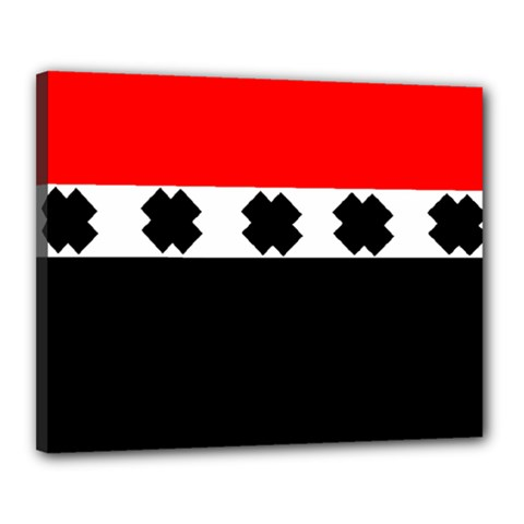 Red, White And Black With X s Design By Celeste Khoncepts Canvas 20  x 16  (Framed)