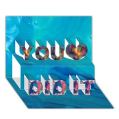 wings You Did It 3D Greeting Card (7x5)