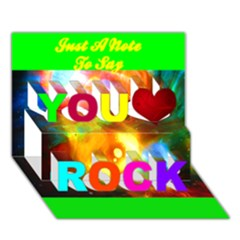 Xping Through Beholding You Rock 3d Greeting Card (7x5)