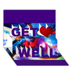 sister of B Get Well 3D Greeting Card (7x5)