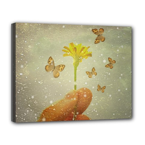 Butterflies Charmer Canvas 14  X 11  (framed)