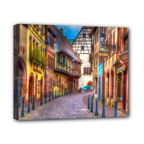 Alsace France Canvas 10  X 8  (framed)