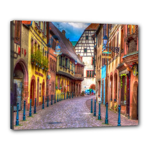 Alsace France Canvas 20  x 16  (Framed)
