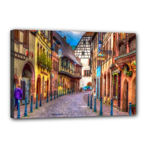 Alsace France Canvas 18  x 12  (Framed)