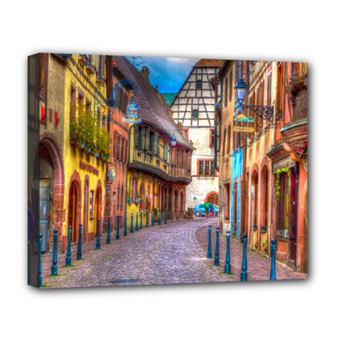 Alsace France Deluxe Canvas 20  x 16  (Framed)