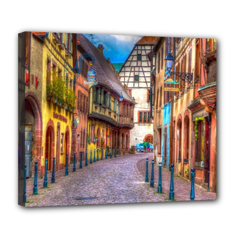 Alsace France Deluxe Canvas 24  x 20  (Framed)