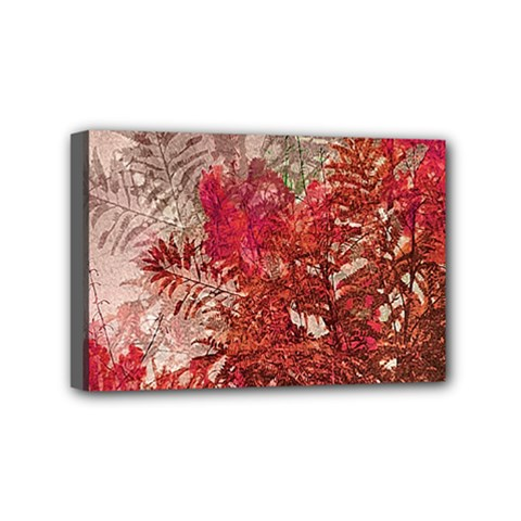 Decorative Flowers Collage Mini Canvas 6  x 4  (Framed)