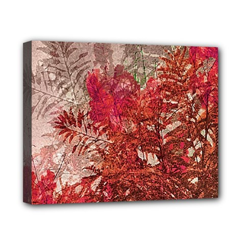 Decorative Flowers Collage Canvas 10  x 8  (Framed)