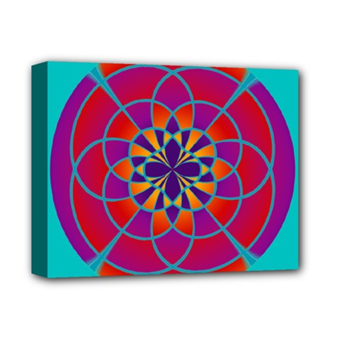 Mandala Deluxe Canvas 14  X 11  (framed)