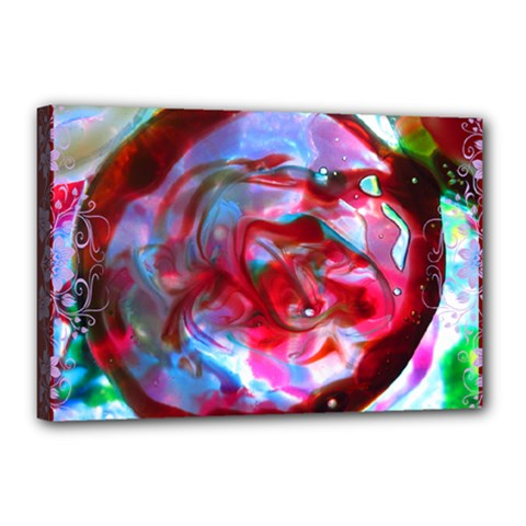 j over dreams by saprillika Canvas 18  x 12  (Framed)