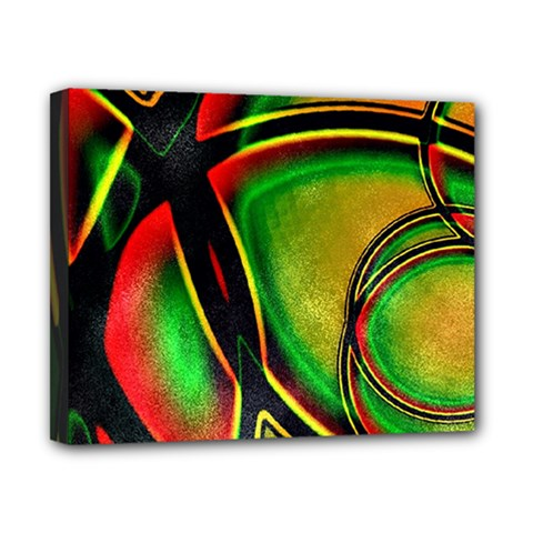 Multicolored Modern Abstract Design Canvas 10  X 8  (framed)