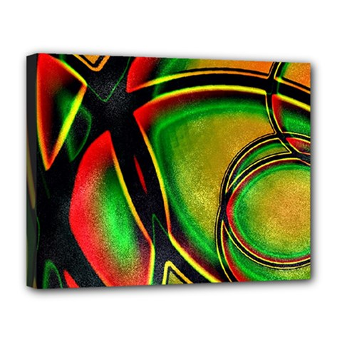 Multicolored Modern Abstract Design Canvas 14  x 11  (Framed)
