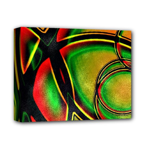 Multicolored Modern Abstract Design Deluxe Canvas 14  x 11  (Framed)