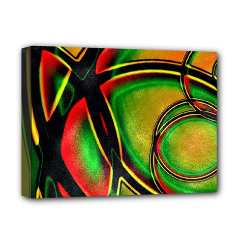 Multicolored Modern Abstract Design Deluxe Canvas 16  x 12  (Framed)