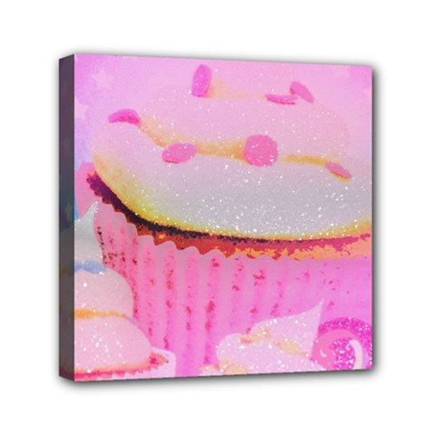 Cupcakes Covered In Sparkly Sugar Mini Canvas 6  x 6  (Framed)