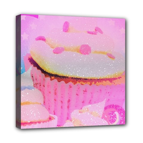 Cupcakes Covered In Sparkly Sugar Mini Canvas 8  X 8  (framed)