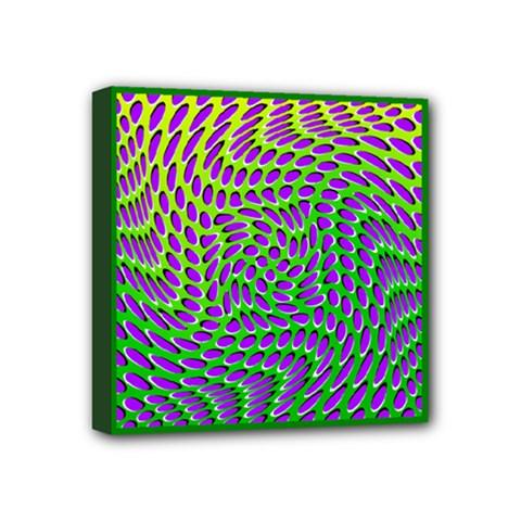 Illusion Delusion Mini Canvas 4  X 4  (framed)