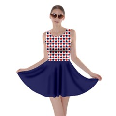 Usa Patriotic Stars Skater Dress