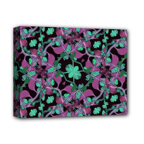Floral Arabesque Pattern Deluxe Canvas 14  x 11  (Framed)