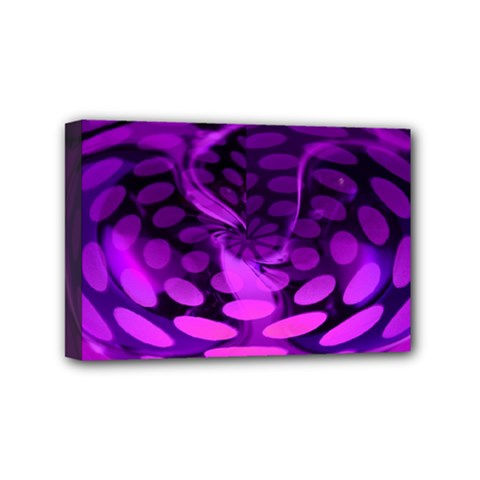 Abstract In Purple Mini Canvas 6  X 4  (framed)