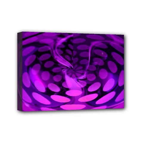 Abstract In Purple Mini Canvas 7  x 5  (Framed)