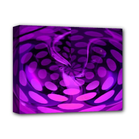Abstract In Purple Deluxe Canvas 14  X 11  (framed)