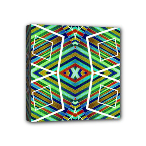 Colorful Geometric Abstract Pattern Mini Canvas 4  x 4  (Framed)