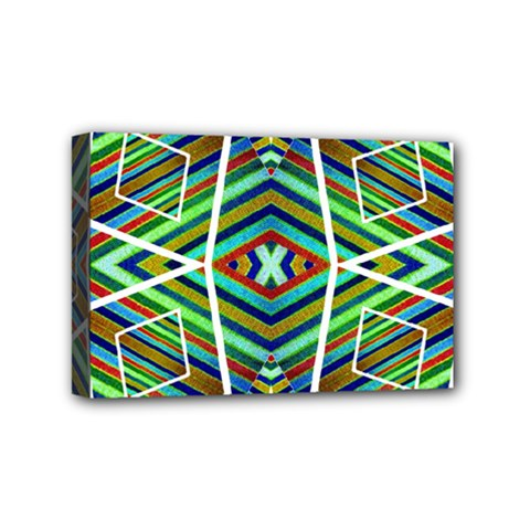 Colorful Geometric Abstract Pattern Mini Canvas 6  x 4  (Framed)