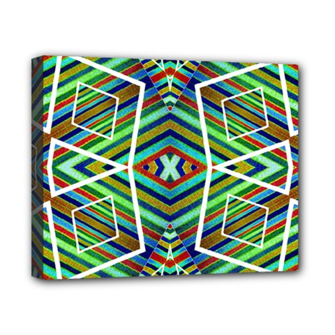 Colorful Geometric Abstract Pattern Canvas 10  x 8  (Framed)