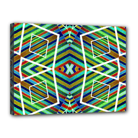 Colorful Geometric Abstract Pattern Canvas 16  x 12  (Framed)