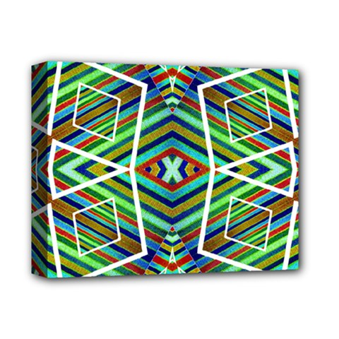 Colorful Geometric Abstract Pattern Deluxe Canvas 14  X 11  (framed)