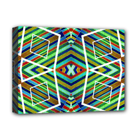 Colorful Geometric Abstract Pattern Deluxe Canvas 16  X 12  (framed)
