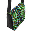 Colorful Geometric Abstract Pattern Flap Closure Messenger Bag (Small) View2