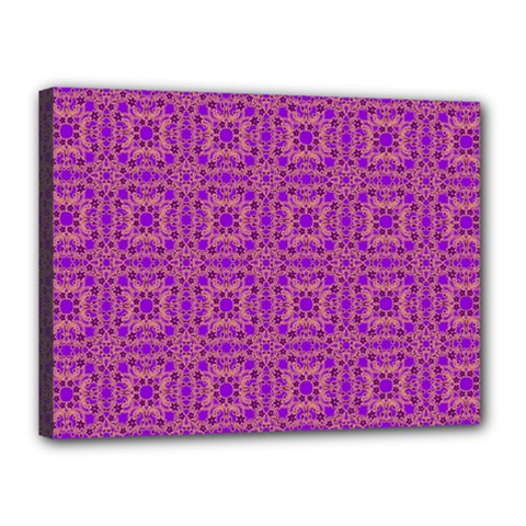 Purple Moroccan Pattern Canvas 16  X 12  (framed)