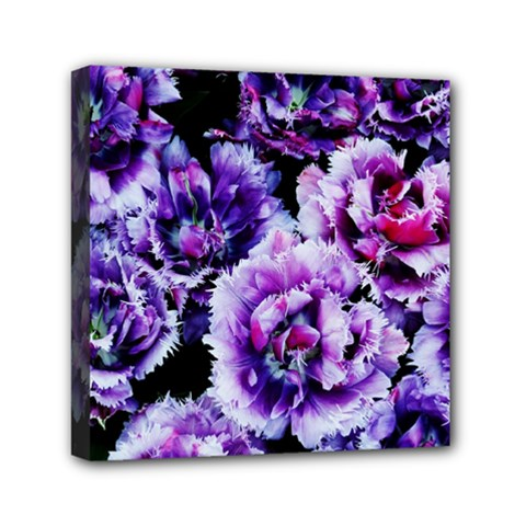 Purple Wildflowers Of Hope Mini Canvas 6  x 6  (Framed)