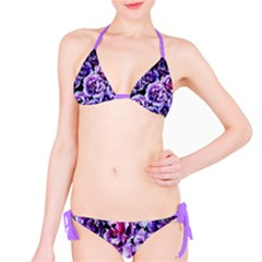 Purple Wildflowers Of Hope Bikini