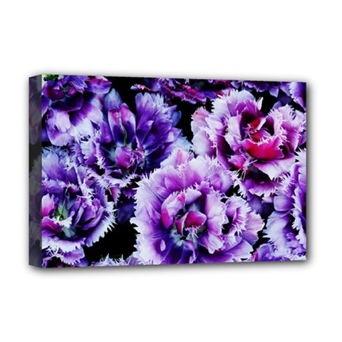 Purple Wildflowers Of Hope Deluxe Canvas 18  x 12  (Framed)