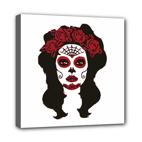 Day Of The Dead Mini Canvas 8  x 8  (Framed)