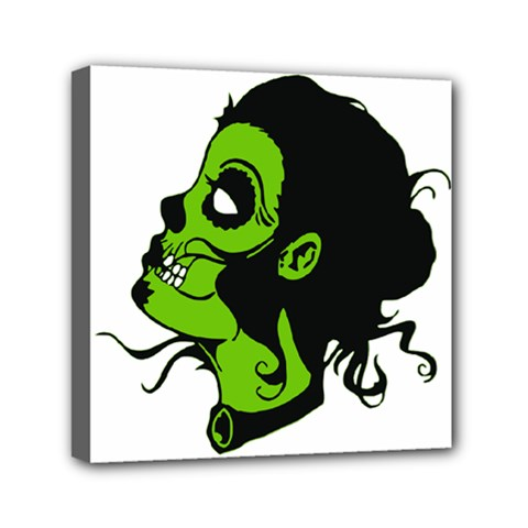 Day Of The Dead Mini Canvas 6  x 6  (Framed)
