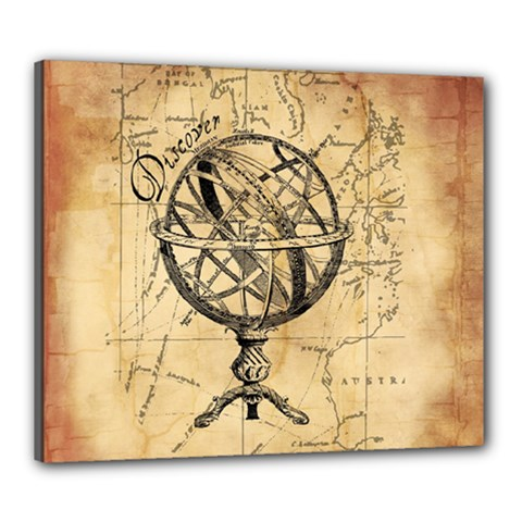 Discover The World Canvas 24  x 20  (Framed)