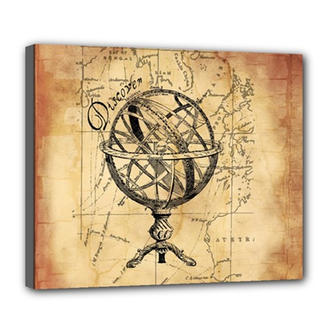 Discover The World Deluxe Canvas 24  X 20  (framed)