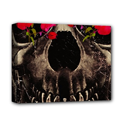 Death and Flowers Deluxe Canvas 14  x 11  (Framed)