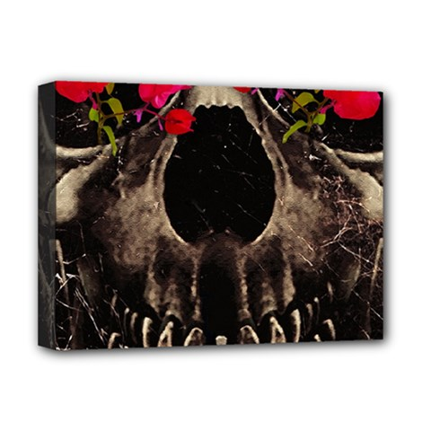 Death and Flowers Deluxe Canvas 16  x 12  (Framed)