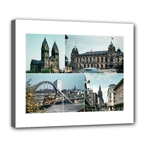 Vintage Wuppertal Photo Collage Deluxe Canvas 24  x 20  (Framed)