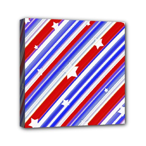 American Motif Mini Canvas 6  x 6  (Framed)